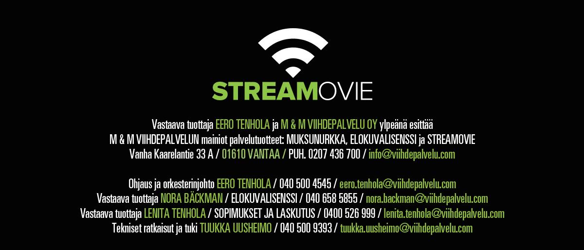 Viihdepalvelu yhteystiedot - Streamovie