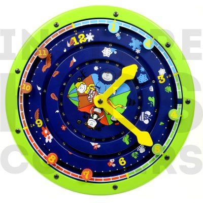 clock around green